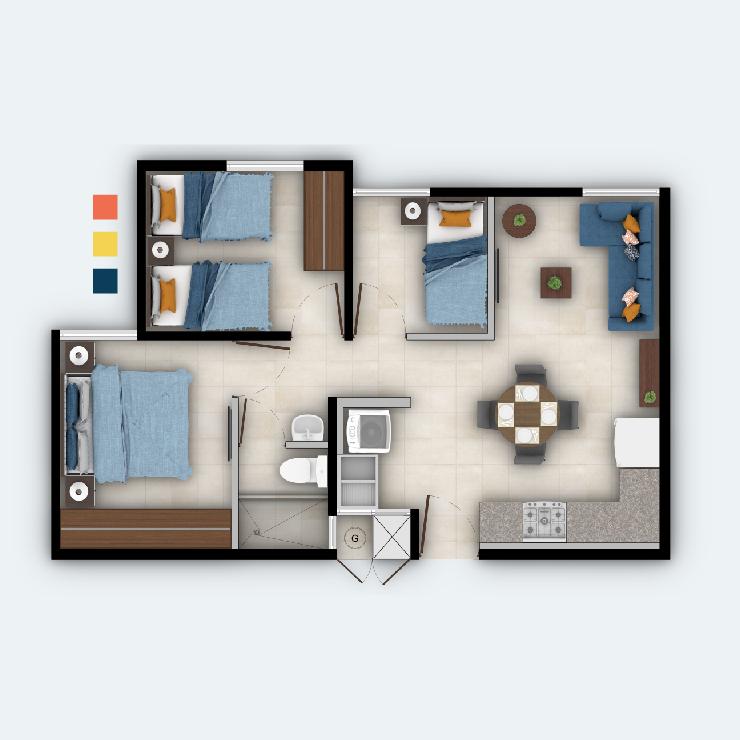 Apartamento 3H
